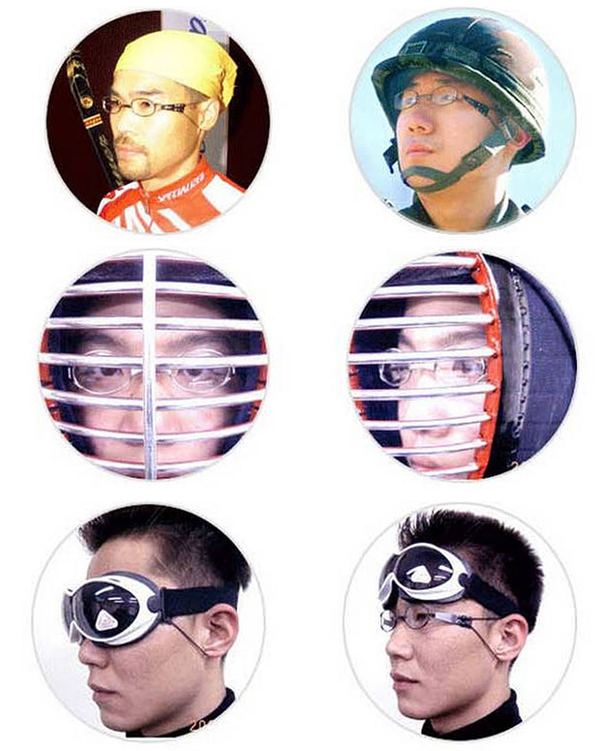 Sports Metal Eye Glasses Active Sporting Mania Enthusiasts ...